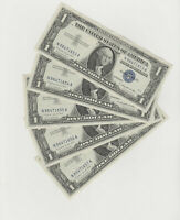 Lot of 5(UNC.) - Consecutive Serial Number 1957-A $1 Silver Certificates