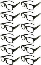 Reading Glasses [+4.00] 24 Black Plastic Frame  Wholesale Lot Reader Unisex 4.00