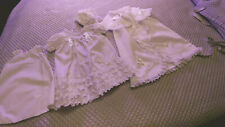 VINTAGE YAFFA 4-PCE Baby Christening Gown Dress Clothes Antique Reborn Dolls #2