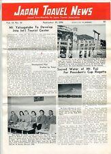 "1956 ""Japan Travel News"" Advertising Newsletter - Japan Tourist Association"