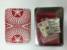 Marlboro Western Star Gift Tin Box w/ Poker Dice and Cards Includes Instructions