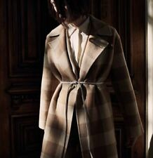 Nwt Theory Overlay Df Check Wool Coat, Camel Multi Size P(Xs), S, M $895