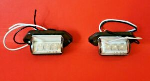 DELICA L400 SPACEGEAR LED REAR NUMBER PLATE LIGHT REPLACEMENTS PAIR X2 LAMPS