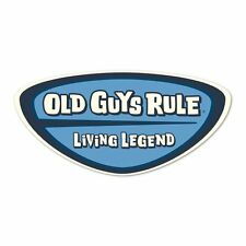 """Old Guys Rule """" Living Legend """" 2.5"""" X 5"""" Decal Sticker"""
