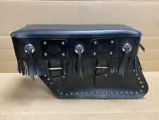 Harley Davidson Fringed Leather Saddlebag Kit Heritage Softail FLSTC 90860-86