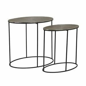 Jude – Oval Side Tables - Set of Two - by Richmond Interiors