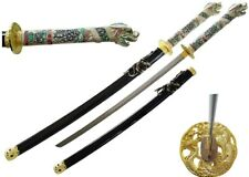 "NEW 42.5"" Japanese Samurai Katana Sword w/ Dragon Open Mouth Handle Highlander"