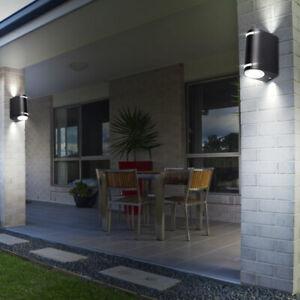 2er Set LED Außen Wand Leuchten Haustür UP DOWN Strahler Fassaden ALU Lampen