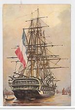 "211-BOATS & SHIPS -NETHERLANDS -Franz. Kriegsschiff, Zweidecker ""Le Tage"" 1847"