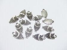 10pz  charms ciondoli GUFO 18x9mm colore argento tibet bijoux
