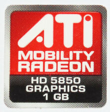 ATI Mobility Radeon HD 5850 sticker logotipo pegatinas 16x16mm (780)