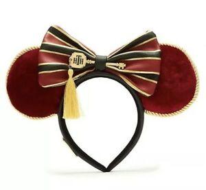 Disney Genuine LOUNGEFLY Tower Of Terror Minnie Mickey Head band Ears New Tagged