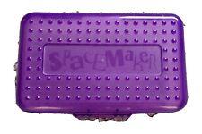90s SPACEMAKER Pencil Box School Supply Case Purple & Translucent ✏️✏️✏️