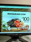 (3) $100 RESTAURANT.COM GIFT CERTIFICATES For Sale