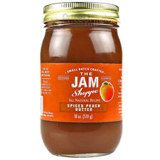 The Jam Shoppe All Natural Spiced Peach Butter 18 Oz. Jar Real Fruit Recipe