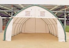 20x30x12 Canvas Fabric Building Shelter With Metal Frame Camper Boat Storage New