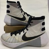 Nike Elite Hyperdunk 2015 High White Gray Basketball Shoes 11.5 Men's 749561-100