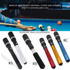 Pool Cue Extension Push on Snooker Billiard Long Stick Accessories ❤