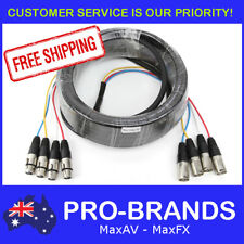 20m 4-Way XLR M-F Male to Female Balanced Cable Core Lead Loom Snake Multicore