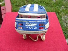 vintage Cooper SK 100 JR blue Gretzky style hockey helmet 1960 s PLEASE READ!!