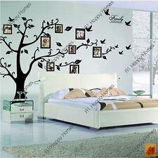 Extra Grande Árbol De Familia Pájaros Marco Fotos Frases Adhesivos De Pared