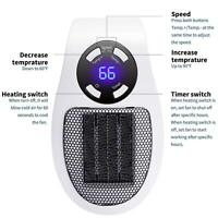 Portable Ceramic Mini Space Air Heater Plug-in Wall-Outlet Office House 600W !