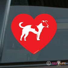 Love Jack Russel Terrier Sticker Die Cut Vinyl - profile jrt parson v2