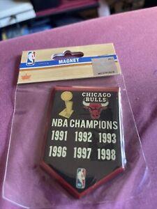 Chicago Bulls 6X NBA Champions Banner Magnet