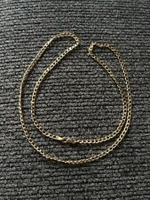 """10k Yellow Gold 21"""" Hollow Chain Link Necklace"""
