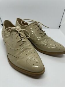 WITTNER 40 WOMENS BROGUES PATENT LEATHER COMFORTABLE CASUAL OR BUSINESS