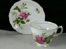 Royal Vale English Bone China Teacup and Saucer  Pink Rose