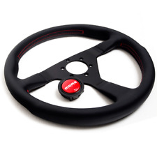MOMO Steering Wheel 350mm Montecarlo w/Red Stitch MCL35BK3B