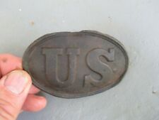 Antique Civil War Dug Relic Us U.S. Cartridge Box Plate / Boxplate