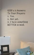 Gods 3 answers vinyl wall art decal sticker home house deco religion christ