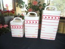 IN-N-OUT Burger 3 Piece Canister Set-  Limited edition Employee Only Gift