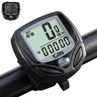 Wireless LCD Digital Cycle Computer Bicycle Bike Backlight Speedometer Odometer