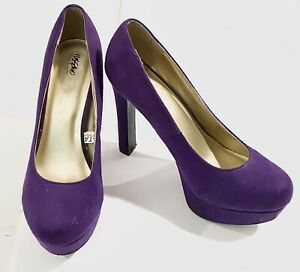 """Mossimo Supply Co. 5"""" Heel (Size 6.5) Purple Faux Suede"""