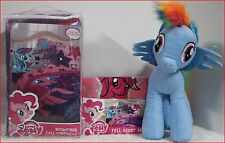6 pc - My Little Pony COMFORTER + SHEETS + Rainbow Dash Pillow Doll  Purple FULL