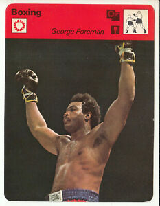 GEORGE FOREMAN Boxing Champion Boxer 1978 SPORTSCASTER CARD 15-07