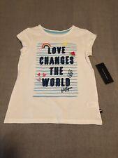 Tommy Hilfiger Girls Shirt White Size 6, 100% Cotton, New