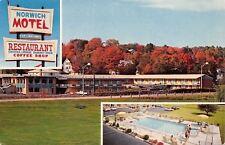 Norwichtown Connecticut~Norwich Motel~Restaurant~Coffee Shop~1950s Postcard