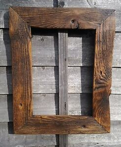 A4-A1 Rustic Jacobean Recycled Wood Driftwood Picture Canvas Photo Frame chunky