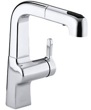 K-6332T-4-CP_Kohler Evoke Single Hole Kitchen Faucet w/Pull-Down Spray