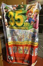 "Super Mario 35th Anniversary Nintendo Fabric Banner Poster 48"" x 88"" GameStop"