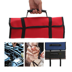 22 Pocket Spanner Wrench Tool Storage Bag Case Roll Up Canvas Pouch Organizer