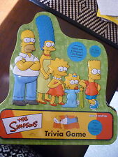 THE SIMPSONS TRIVIA GAME/USED