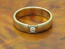 14kt 585 Gelbgold Ring mit Brillant Solitär Besatz / Diamant / 2,9g / Rg 55