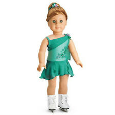 American Girl Mia's PERFORMANCE OUTFIT Turquoise Dress DOLL & SKATES NOT INCLUDE