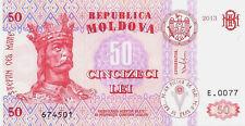 MOLDOVA   -   50  LEI   2013  -   P 14 NEW  Uncirculated Banknotes