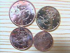 1+2+5+10 Euro cent Münzen aus Finnland 1999 / 2003